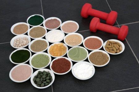 Body Building Powders and Vitamin Pills