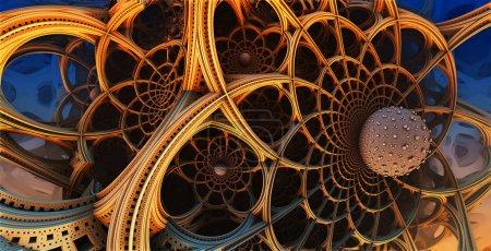 Photo pour Contexte abstrait, structures 3D fantastiques, conception fractale . - image libre de droit