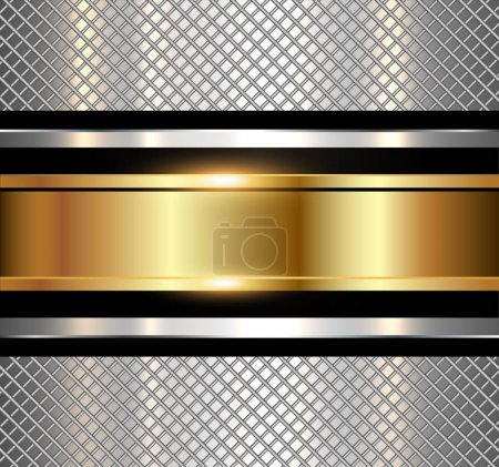 Illustration pour Fond métallique, texture métallique brillante. Illustration vectorielle technologique . - image libre de droit
