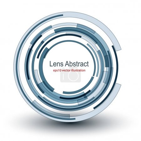 Background  abstract lens design