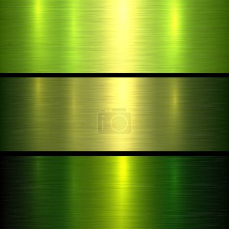 Illustration for Metal green texture background, brushed metallic texture plate. - Royalty Free Image
