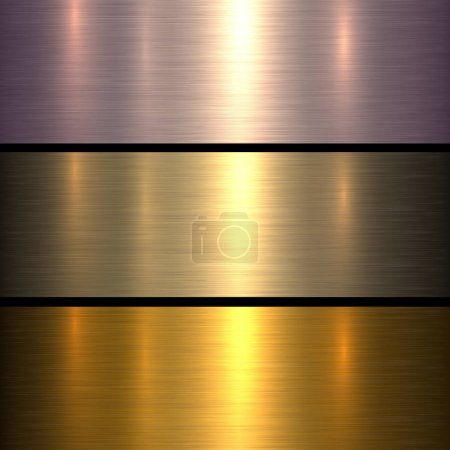 Illustration for Metal gold texture background, golden brushed metallic texture plate. - Royalty Free Image