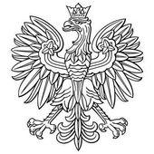 Poland eagle polish national coat of arm detailed vector illustration