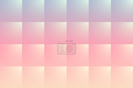 Illustration for Abstract background with square pattern, 3D opalescent pearl like vector illustration. - Royalty Free Image