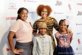 Laila,Tina Campbell, JJ and Meela at The 19TH Annual First Ladies High Tea 10-22-16 at the Beverly Hilton Hotel in Beverly Hills, CA