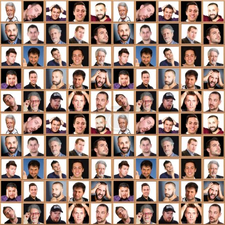face collage of men