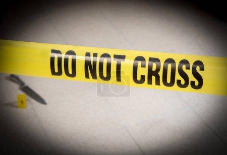 crime scene with write