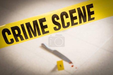 Foto de Escena del crimen con kneaf - Imagen libre de derechos