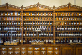 Old drug store, pharmacy museum in Wroclaw, Poland