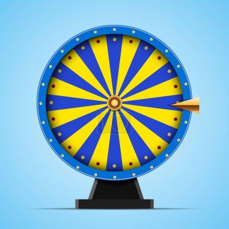 Blue Wheel of fortune vector Illustration eps 10