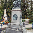 Постер, плакат: Grave and memorial of Wolfgang Amadeus Mozart on the central cemetery in Vienna