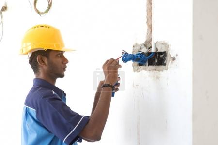 young Indian electrician