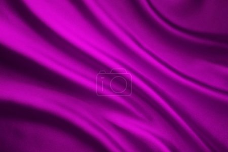 Photo for Silk Fabric Background, Satin Cloth Waves, Abstract Flowing Waving Pink Textile - Royalty Free Image