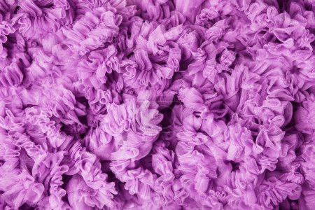 Foto de Fondo, olas de tela rosa, volante volante ola lila textura de paño olas - Imagen libre de derechos