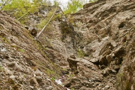 Avalanche of huge rocks