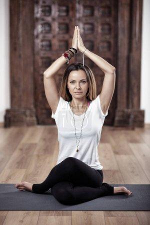 Yoga woman in asana pose