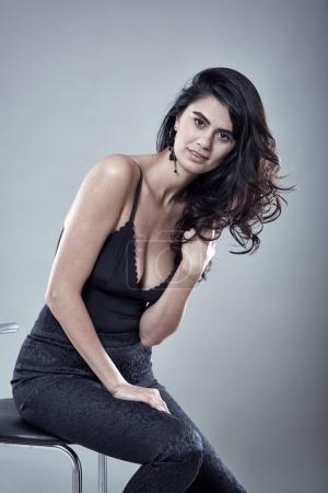 beautiful female lingerie model