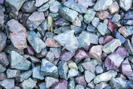 Many grayish scree stones