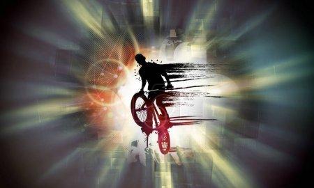 Bicycle jumper illustration