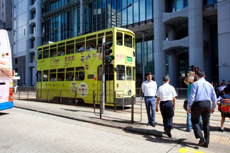 Electric trolleys and motor vehicles in Hong Kong