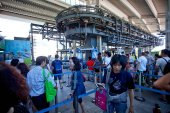 Tourists get to cable cars Giant