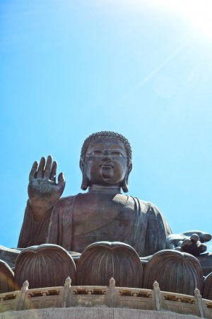 Giant Buddha statue at Po Lin Monaster