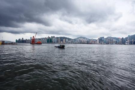 Victoria harbour and city in background