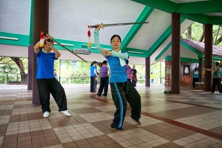 An unidentified athletes at the Wushu School