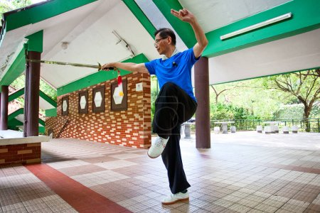An unidentified athlete at the Wushu School