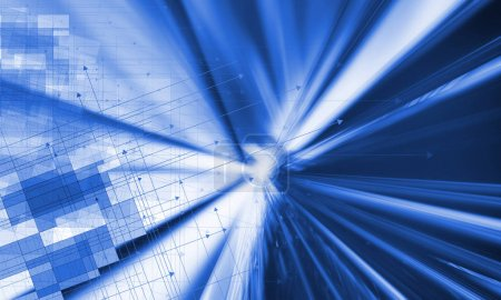 3D rendering of digital arrows technology background