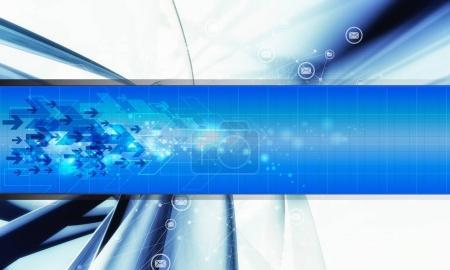 Representación 3D del fondo tecnológico