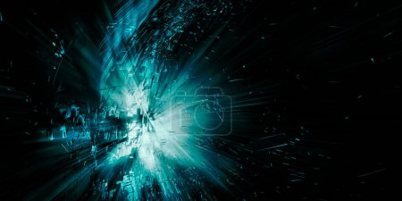 3D-Rendering der abstrakten Technologie digitales Hallo-Tech-Konzept bereit