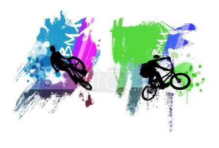 BMX sport illustration