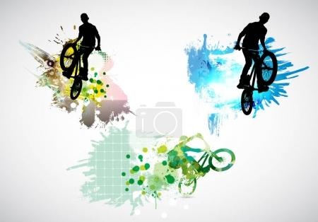 bicycle jumpers illustration