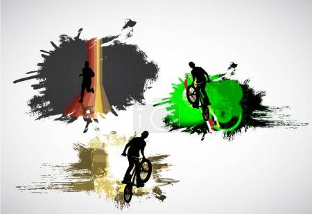 BMX riders illustration
