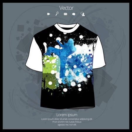 T-shirt template illustration