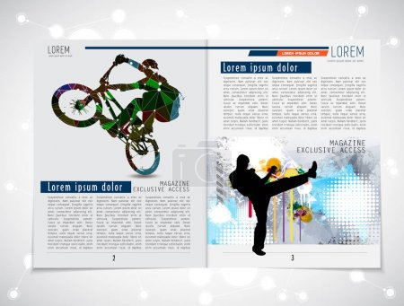 Sport brochure layout