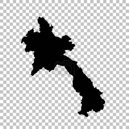 Vector map Laos. Isolated vector Illustration. Black on White background. EPS 10 Illustration.