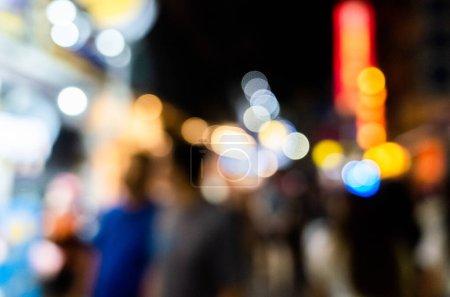Photo pour Marché de nuit en profondeur abstraite de fond de mise au point - image libre de droit