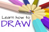 How to draw background with color pencils