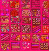 Abstraktní vzor kreslení geometrických tvarů