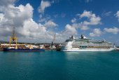 Freighter and Cruise Ship