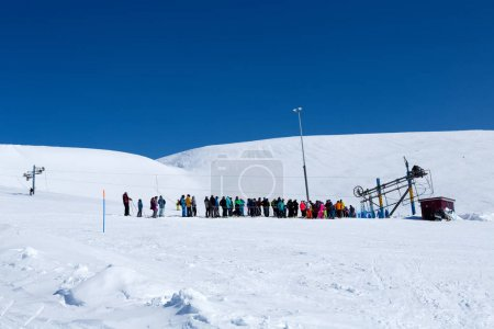 Skiers and snowboarders who came