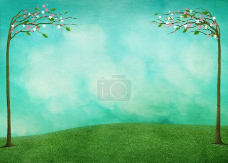 Spring background for greeting card