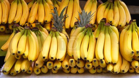 Photo for Bunch of Ripe Bananas at Grocery Store - Royalty Free Image