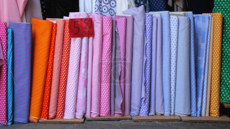 Colourful Fabric Rolls