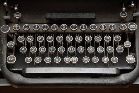 Photo for Vintage Mechanical Typewriter Keyboard Close Up - Royalty Free Image