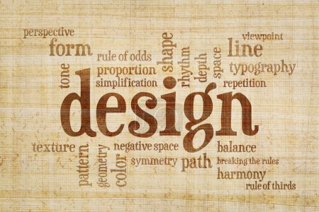 Design elements and rules word cloud