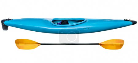 blue whitewater kayak