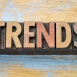 Trends  word abstract in vintage letterpress wood ...